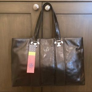 Tory Burch Black Tote Bag New